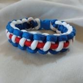 Red/White/Blue Paracord Bracelet: $15.00