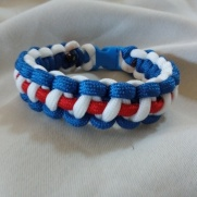 Red/White/Blue Paracord Bracelet: $15.00