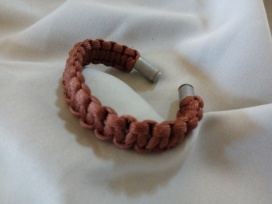 Item #18--Custom 9mm Ends Army Brown Bracelet: $15.00