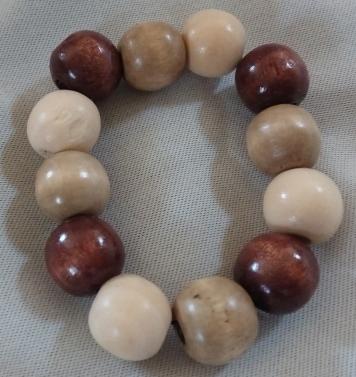 Item #8---Tricolor Wood Beaded Bracelet $15.00