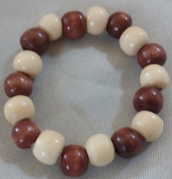 Item #10--- Two colored Wood Beaded Bracelet $15.00
