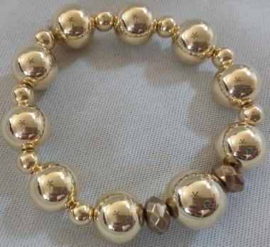 Item #11 Gold Beaded Bracelet --- $15.00