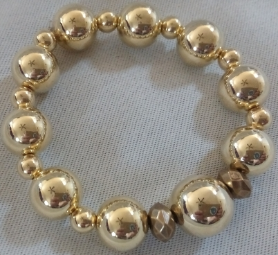 Item #11 Gold Beaded Bracelet --- $15.00