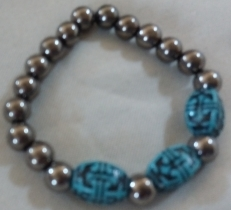 Item #13-Cooper and Aztec Beaded Bracelet-- $15.00