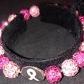 G. 2 tone Pink Breast Cancer Bracelet $30.00