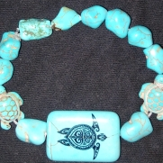 L. Square Tourquoise Turtle $25.00