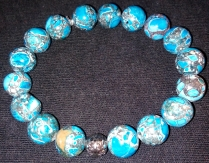 T. Blue Marbled Agate $25.00