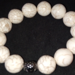 S. Marble Bracelet w/ Silver accent $25.00