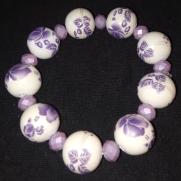 N. Purple Procelin Bracelet $25.00