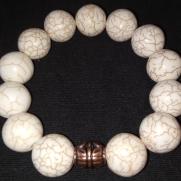 R. Marble Bracelet w/ Copper accent $25.00