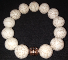 Marble Bracelet w/ Copper accent