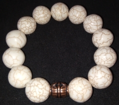 Marble Bracelet w/ Copper accent