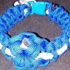 Blue Paracord w/ White Accent and Hex