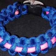 Blue Paracord With Pink Accent Color